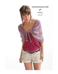 Modèle chauffe épaule cb16-03 - patron tricot gratuit - Cheval blanc