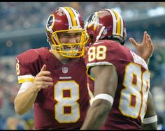 Cousins and one of his many targets ! HAIL TO THE 2015 NFC EAST CHAMPS #Redskins #HTTR