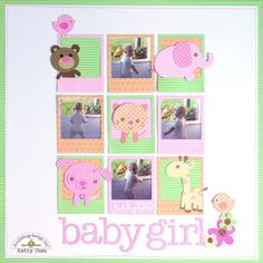 Doodlebug Design Inc Blog: NEW Sugar & Spice Cut Files Released with Baby Girl Layout by Kathy Skou