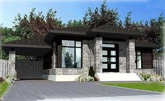 One Level Contemporary Home Plan - 90236PD | Contemporary, Northwest, Canadian, Metric, Narrow Lot, 1st Floor Master Suite, CAD Available, PDF | Architectural Designs