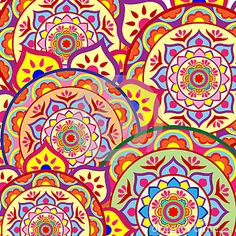 Vector Illustration Pattern Background Wallpaper with colorful Mandalas.