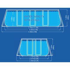 Piscine rectangulaire tubulaire 400x207h122cm + Pompe + Echelle 17451EU - Jardin…