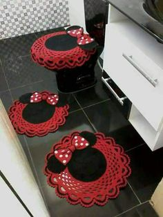 Crochet Food, Crochet Kitchen, Crochet Gifts, Crochet Doilies, Crochet Disney, Crochet Rug Patterns, Knitting Patterns, Crochet Beanie, Knit Crochet