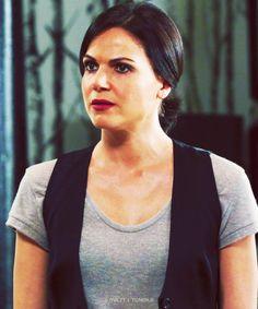 """ Regina Mills in a T-Shirt and Waistcoat everyone [x] """