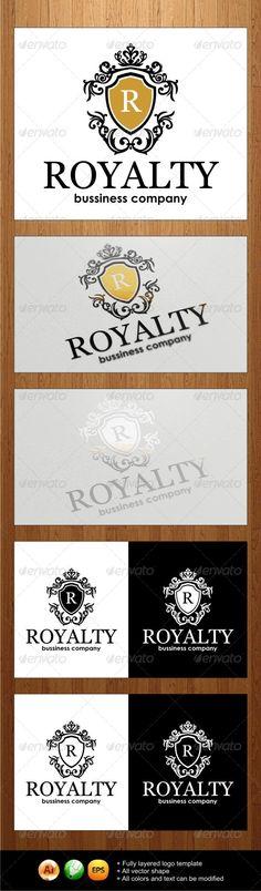 Royalty Logo — JPG Image #royalty #emblem • Available here → https://graphicriver.net/item/royalty-logo/3981191?ref=pxcr