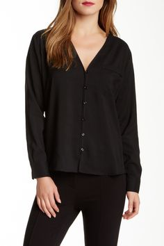 Button Front Blouse by Rachel Zoe on @nordstrom_rack