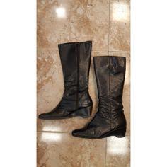 Comprar oficial Botas Altas Paco Herrero Negro Piel Zapatos