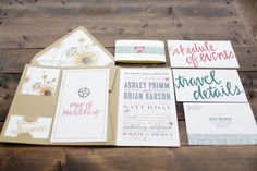 whimsical wedding invitations - photo by Gideon Photography http://ruffledblog.com/whimsical-winery-wedding-in-california