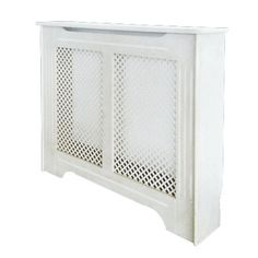 Victorian Radiator Cabinet Small White 1020 x 210 x 868mm | Radiator Covers | Screwfix.com
