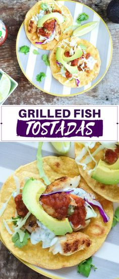 These grilled fish tostadas are made a little healthier, thanks to oven-baked tostada shells and grilled tilapia, instead of the traditionally fried fare. Still just as delicious!