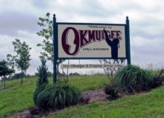 Okmulgee, OK in Oklahoma...miss seeing this sign everyday