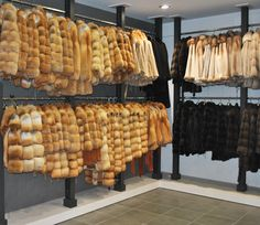 """Made of """"gold"""", I'll never love another one... Don't miss out these luxurious Canadian fox fur jackets when you visit our retail store near Paralia Katerinis, Greece."""