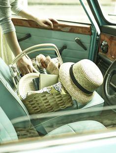 いってきます!運転する君が好き。【ラガハウス ピクニックバスケット】