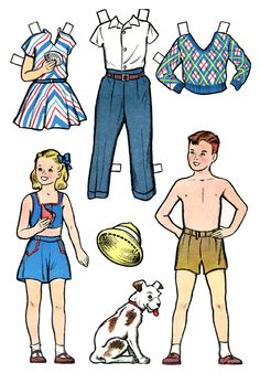 Jeanie and Children in Florida Paper Dolls | 2 of 2