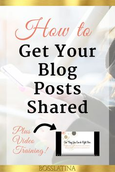Learn 7 strategies on how to get your blog posts shared and watch a training video on how to implement one specific tactic right away.