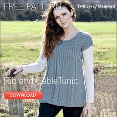 Free rib and cable tunic pattern