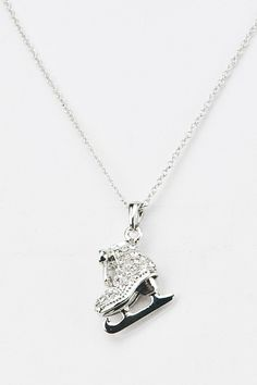 Pretty Crystal SKATE Pendant Necklace - $13.00