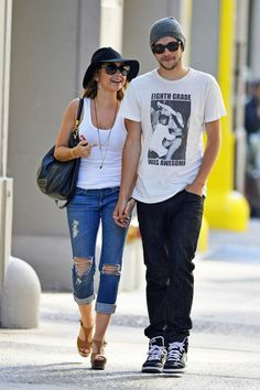 Sarah Hyland seen with her boyfriend Matt Prokop in SoHo, New York City.