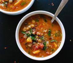 Spiced Lentil Soup with Collard Greens or Kale