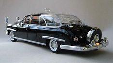 "Dwight D. Eisenhower's ""Bubbletop"" 1950 Lincoln Presidential Limousine. Eisenhower, an automotive afficionado, made the executive decision to create the ""bubble top."""
