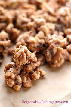 Cinnamon Sugar Walnuts Ingredients:  1 lb whole walnuts 1 1/2 cups sugar 1 cup milk, I used low fat milk 2 teaspoons cinnamon 1/2 teaspoon salt 1 teaspoon vanilla