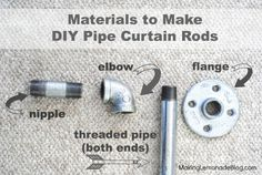 Style in the Plumbing Aisle! {Industrial Pipe Curtain Rods} Finding Style in the Plumbing Aisle! {Industrial Pipe Curtain Rods} :: HometalkFinding Style in the Plumbing Aisle! Industrial Home Design, Industrial Pipe, Industrial House, Industrial Style, Industrial Curtain Rod, Pipe Curtain Rods, Plumbing Curtain Rod, Cheap Curtain Rods, Outdoor Curtain Rods