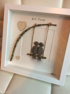 38 Awesome Diy Pebble Art Ideas For Beautiful Interior Decoration Stone Crafts, Rock Crafts, Cute Crafts, Crafts To Do, Crafts For Kids, Arts And Crafts, Diy Crafts, Pebble Art Family, Art Diy