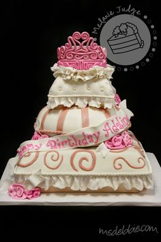 Pillow Birthday Cake. Maybe for Chesneys 5th birthday! When all girls are little princesses!