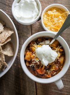 Sweet Potato Black Bean Chili via Lemons and Basil