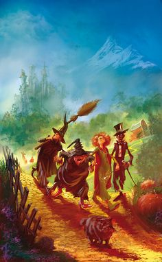 Illustrations for the French edition of the Discworlds novels