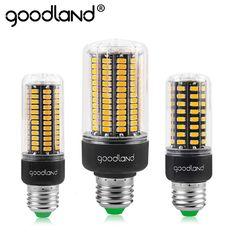 Goodland e27 led 램프 220 볼트 110 볼트 높은 밝은 led 전구 3.5 와트 5 와트 7 와트 9 와트 12 와트 15 와트 옥수수 빛 SMD 5736 플리커 샹들리에 빛