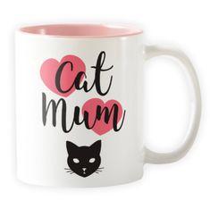 Cat Mum Two-Tone - Novelty Cat Mug - Cat Lovers Australia Cat Lover Gifts, Cat Gifts, Cat Lovers, Cute Cats, Funny Cats, Cat Themed Gifts, Cat Mug, Gifts For Mum, Brighten Your Day
