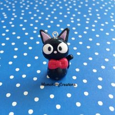 Breloque de kiki livraison Service chat Kawaii Jiji polymère argile