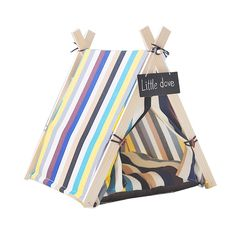 Free Love@square color stripe design Pet Kennels Pet Play House Dog Play Tent Cat /Dog Bed with cushion -- New and awesome dog product awaits you, Read it now  : Dog kennels