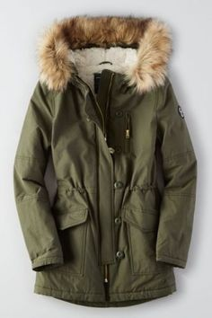 American eagle green parka