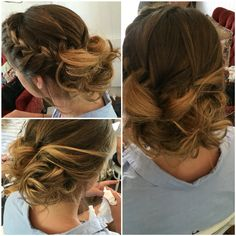 One of my fav styles, messy bun style with braid