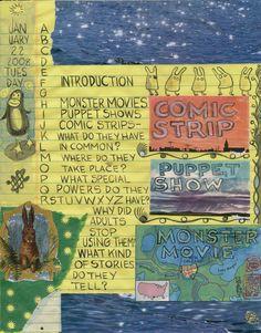 Best American Comics Into Outtake - Lynda Barry via Etsy. Handmade Journals, Handmade Books, Moleskine, Lynda Barry, Nonfiction Text Features, Altered Books, Altered Art, Art Prompts, American Comics