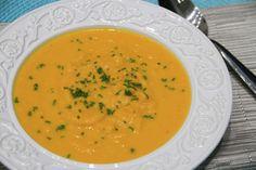 THERMOMIX: Sopa de cenoura, tangerina e gengibre