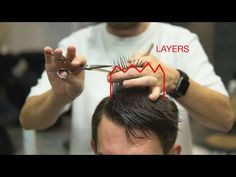 From this video you'll know how to cut classic men's haircut non classic way. I used round layers technique on the nape that is not usual for men's haircuts. Cut Own Hair, How To Cut Your Own Hair, Hair Cutting Videos, Hair Cutting Techniques, Medium Hair Cuts, Short Hair Cuts, Medium Hair Styles, Classic Mens Haircut, Haircut Tip