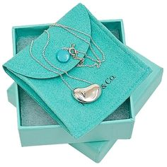 Pre-owned Tiffany & Co 925 Sterling Silver Beans Pendant Necklace ($192) ❤ liked on Polyvore