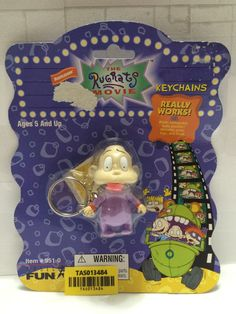 - 1998 The Rugrats Movie Keychains - Dil Weird Toys, Cool Toys, Spongebob Squarepants Toys, The Rugrats Movie, Healthy Habbits, Black Coats, Cool Keychains, Disney Printables, Childhood Movies