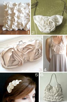 Ideas I really like and might use soon.  MoreDesignPlease - Inspiration :Ruffles!