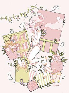 "nemupan: ""l e t g o Done for Sweet Pink art show. """