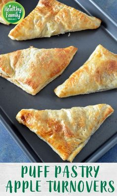 These apple turnovers are so easy to make for a quick treat your family will love. Apples are cooked with a little brown sugar and cinnamon, wrapped in puff pastry and baked to golden perfection. Frozen Puff Pastry, Puff Pastry Sheets, Easy Delicious Recipes, Healthy Dessert Recipes, Apple Recipes, Fall Recipes, Recipes Using Puff Pastry, 4 Ingredient Recipes, Apple Turnovers