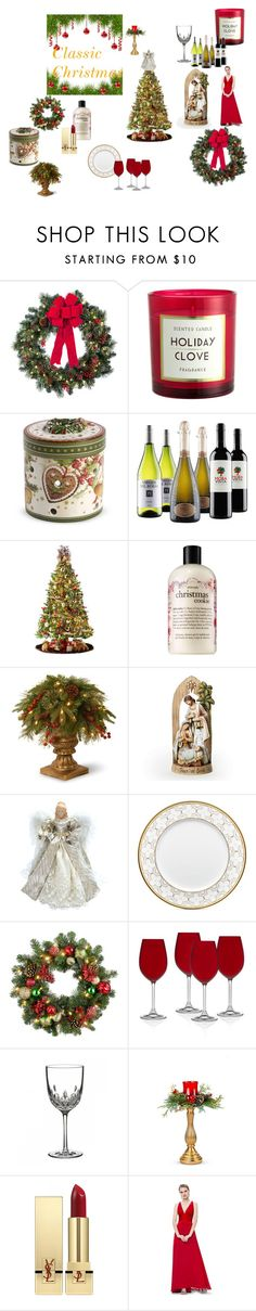 """""""Classic Christmas"""" by katherine-hubbard on Polyvore featuring interior, interiors, interior design, home, home decor, interior decorating, Improvements, Villeroy & Boch, General Foam and philosophy"""