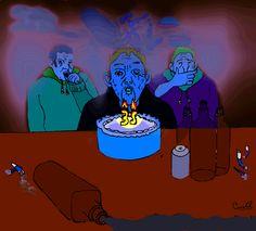 Fumar, tomar demasiado alcohol, el sedentarismo y una mala dieta pueden hacer que las personas envejezcan 12 años. Así concluyó una investigación...  Ilustración De Carolil Círculo Aleph