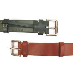 """The Convoy leather belt is made from vegetable tanned English bridle leather. Bench made and hand embossed.Small Medium Large Extra Large32""""-34"""" 34""""-36"""" 36""""-38"""" 38""""-40""""North Sea Clothing Convoy Leather Belt Width approximately one and a half inches OR one and a quarter inches available in some colours.The LeatherWe use premium grade English bridle leather. It's fully vegetable tanned, traditionally pit tanned, hand s..."""