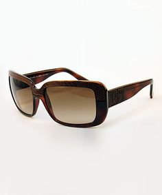 Take a look at this Tortoise Textured Sunglasses by FENDI on #zulily today!