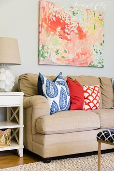 Love the art - Client Room Reveal: Stacy's Family Room