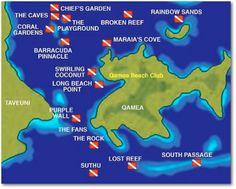 FIji SCUBA locations.